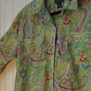Women's Chaps Classics Shirt XL 100% Cotton